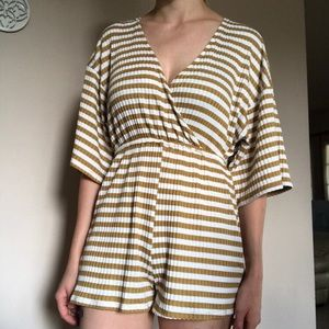 Urban Outfitters knit striped romper